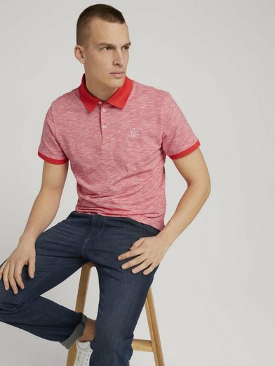 TOM TAILOR Poloshirt »Poloshirt mit Melange-Optik«