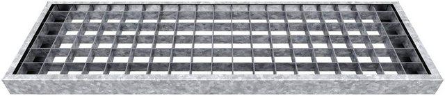 Gitterroststufe für Außentreppe Gardentop, Breite 80 cm