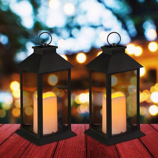 relaxdays LED Laterne »2 x LED Laterne«