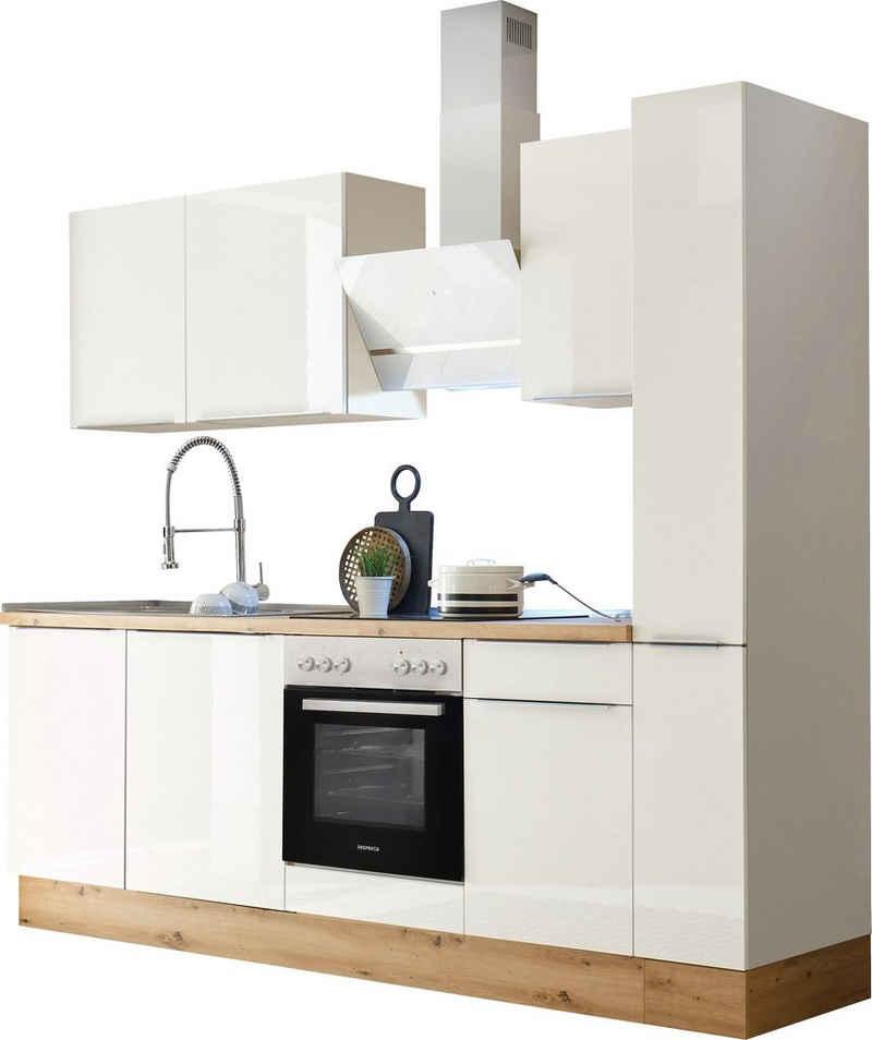 RESPEKTA Küchenzeile »Safado«, mit 2 E-Geräte-Sets zur Auswahl, hochwertige Ausstattung wie Soft Close Funktion, schnelle Lieferzeit, Breite 250 cm