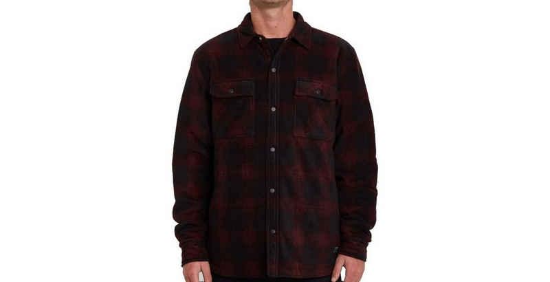 Volcom Outdoorhemd »Volcom Fleece Jacke Bowered Fleece Longsleeve rot«