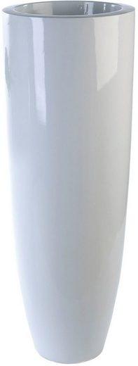 Casablanca by Gilde Pflanzkübel »Konus« (1 Stück), dekorativer Blumentopf, groß, aus Fiberglas, wasserdicht, in 2 Größen erhältlich, In- und Outdoor geeignet, Wohnzimmer