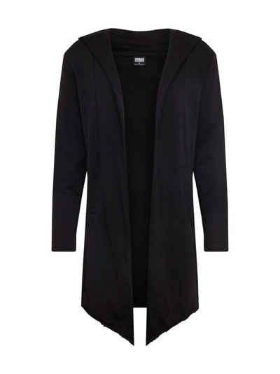 URBAN CLASSICS Sweatjacke »Long Hooded Open Edge Cardigan« (1-tlg)