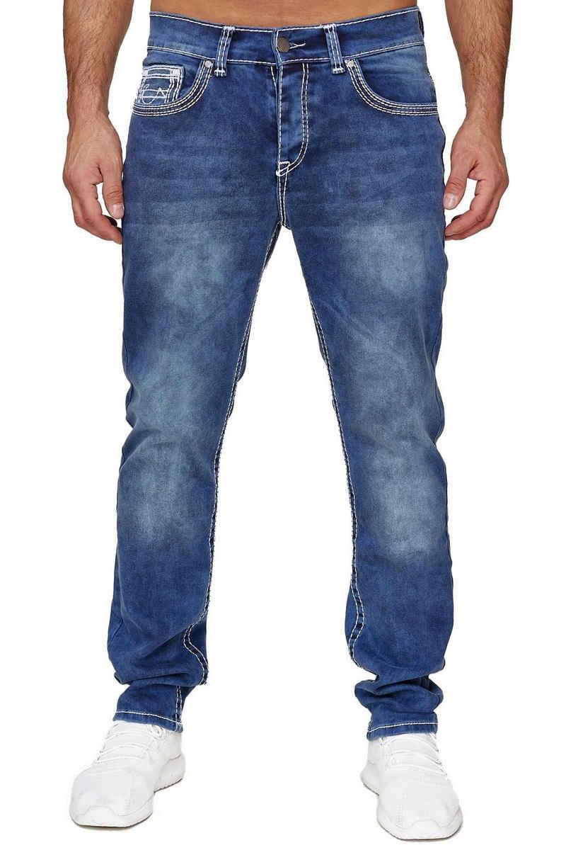 Amica Jeans Regular-fit-Jeans »3514« Herren Jeans Dicke Doppel Zier Nähte 5-Pocket Hose Regular Fit