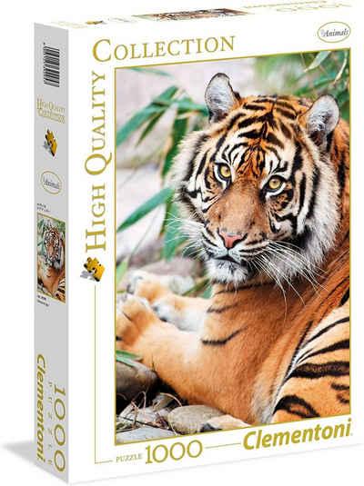 Clementoni® Steckpuzzle »Puzzle 39295 - Sumatran Tiger (1000 Teile)«, 1000 Puzzleteile