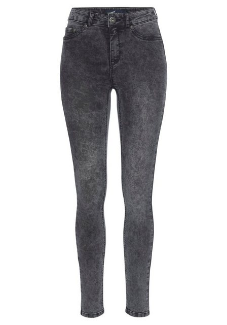 Hosen - Arizona Skinny fit Jeans »Ultra Stretch moon washed« Moonwashed Jeans › grau  - Onlineshop OTTO