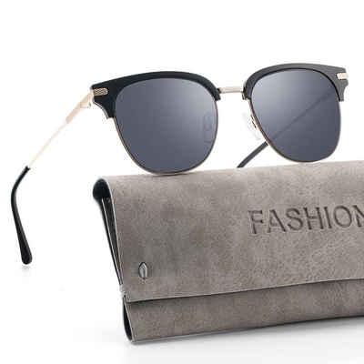 GlobaLink Sonnenbrille »GlobaLink YF06« Sonnenbrille für Damen Fashion Classic Round Aviator Übergroßer, verspiegelter UV 400-Schutz