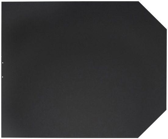 ORANIER Stahlbodenplatte für Kaminöfen »B2«, 100x120 cm, schwarz, zum Funkenschutz