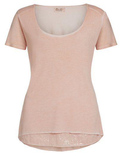 DAILY´S Langarmshirt »GEORGETTE: Damen T-Shirt mit Pailetten«