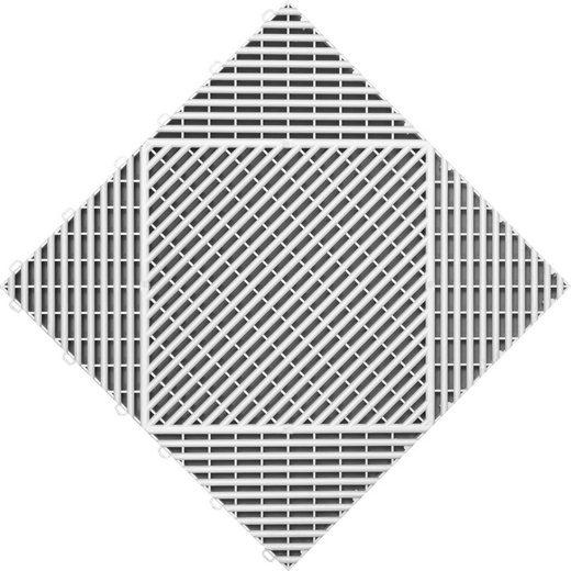FLORCO Klick-Fliesen »classic«, 6 Stück á 40x40 cm, weiß