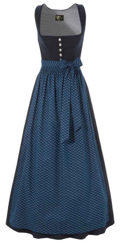 Turi Landhausmode Damen Kleider Dirndl mit /Ärmel Dirndl Stehkragen D912015 Toni