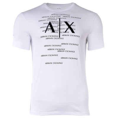 ARMANI EXCHANGE T-Shirt »Herren T-Shirt - Allover Muster, Rundhals, Cotton«