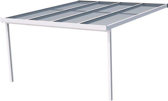 GUTTA Terrassendach »Premium«, BxT: 410x406 cm, Dach Polycarbonat bronce