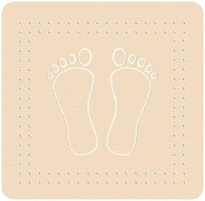 Kleine Wolke Duscheinlage »Foot«, B: 55 cm, L: 55 cm, BxH: 55 x 55 cm