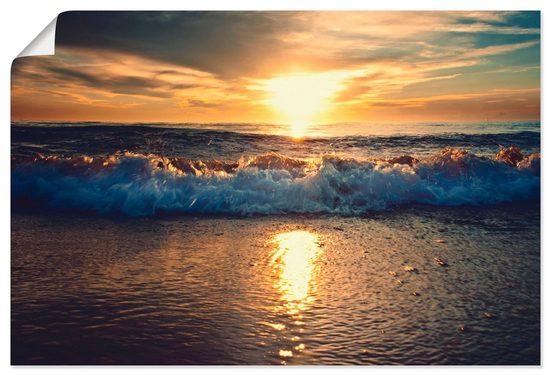 Artland Wandbild »Sonnenuntergang am Meer«, Gewässer (1 Stück), in vielen Größen & Produktarten - Alubild / Outdoorbild für den Außenbereich, Leinwandbild, Poster, Wandaufkleber / Wandtattoo auch für Badezimmer geeignet