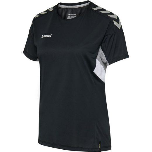 hummel Laufshirt Hummel DamenTech Move Trikot schwarz Shirt Sport Fitness Laufshirt T-Shirt
