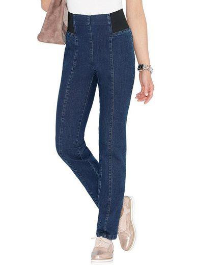 Classic Basics Jeans mit Rundum-Dehnbund bis zum Vorderteil