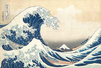 empireposter Poster »Katsushika Hokusai - The Great Wave - Poster - Größe 61x91,5 cm«, (1 Stück)