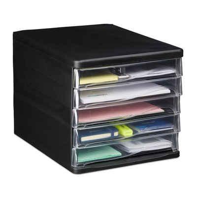 relaxdays Schubladenbox »Schubladenbox mit 5 Fächern«