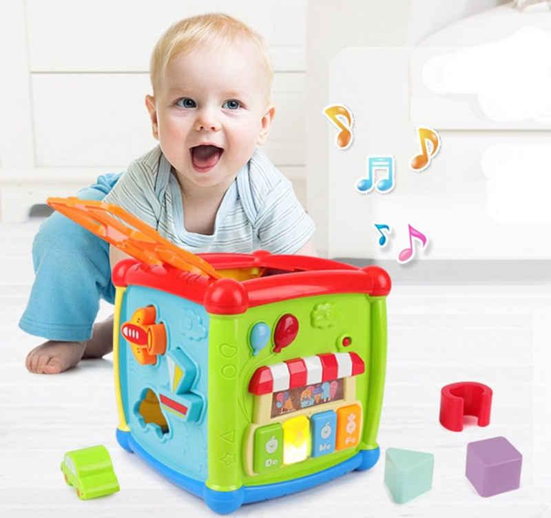 Wenta Lernspielzeug »Aktivität Würfel Entdeckerwürfel 1 und 2 jahr Kinder Baby Spielzeug Mit Musik Licht, Geschenk für Jungen und Mädchen ab 6 12 Monate«