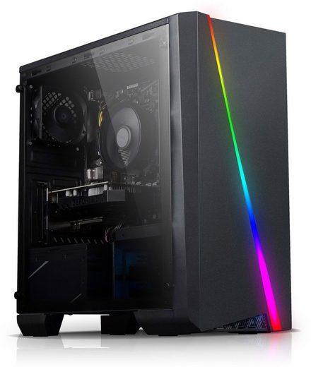 Kiebel Twister Gaming-PC (AMD Ryzen 7 AMD Ryzen 7 2700, GTX 1650, 16 GB RAM, 1000 GB HDD, 512 GB SSD, Luftkühlung, RGB-Beleuchtung)