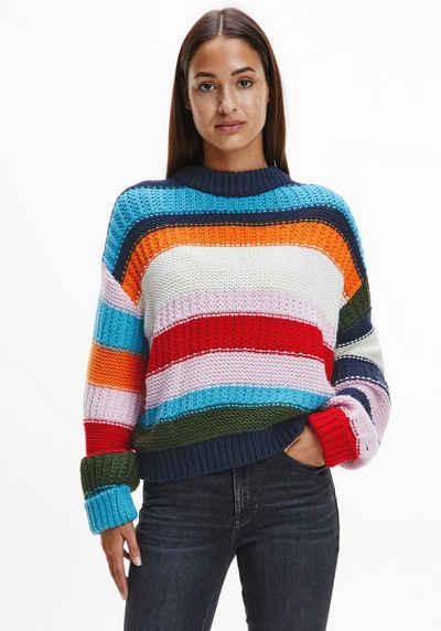 Tommy Jeans Rundhalspullover »TJW MULTI COLORBLOCK SWEATER« im modischem Colorblockstreifen