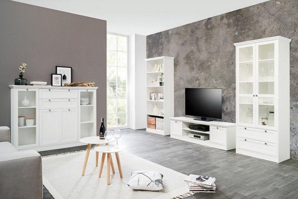 expendio Wohnzimmer-Set »Landström 10«, (Spar-Set, 10-tlg), Landhausstil  weiß online kaufen  OTTO