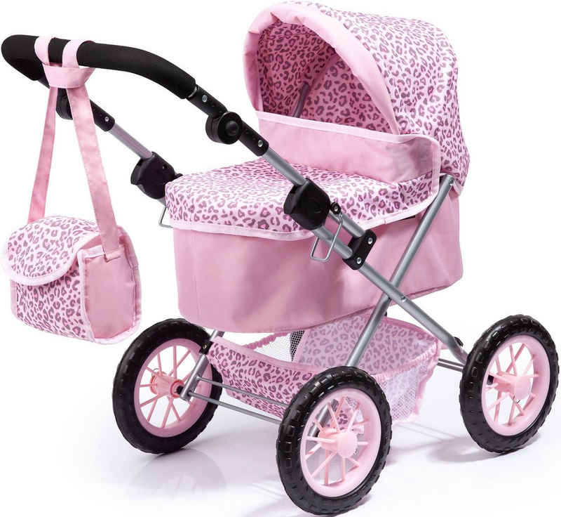 Bayer Puppenwagen »Trendy, rosa/Leopard«, mit Wickeltasche