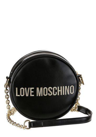 LOVE MOSCHINO Mini Bag, in runder Form mit goldfarbenen Details