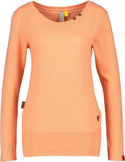 Alife & Kickin T-Shirt »CocoAK« Langarmshirt im Basic- Look mit Kontrast-Details