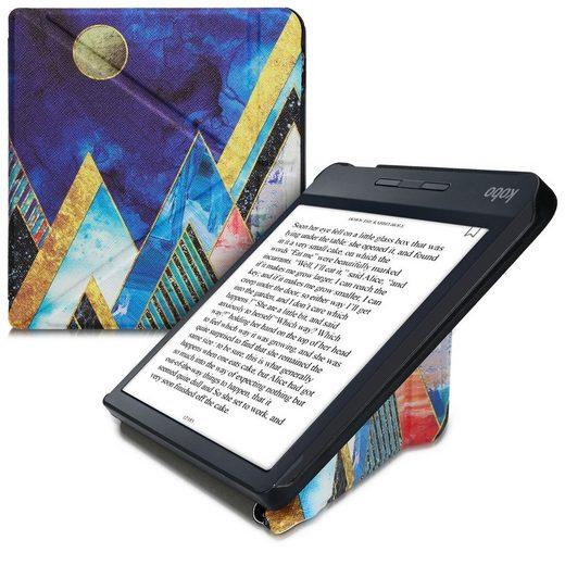 kwmobile E-Reader-Hülle, Hülle für Kobo Libra H2O - Kunstleder eReader Schutzhülle - Flip Cover Case - Glory Mix Berge Design
