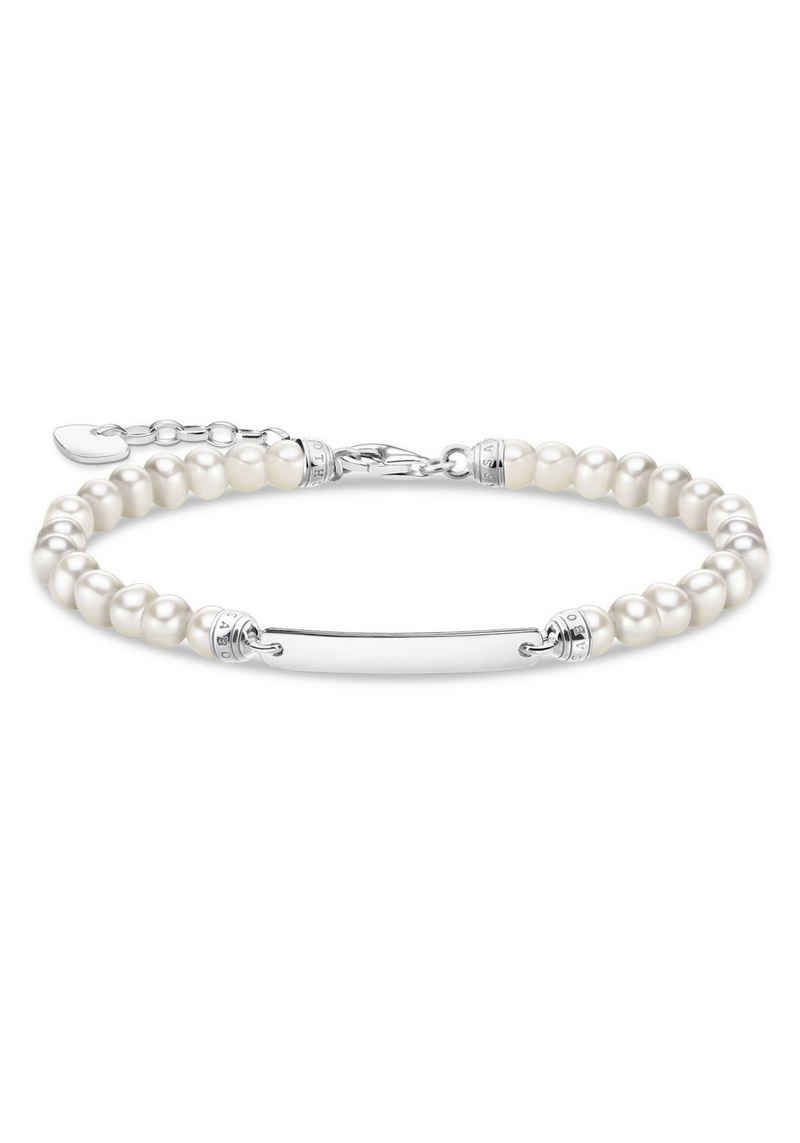 THOMAS SABO Armband »Perlen, rosa Perlen, A2042-082-14-L19V, A2042-415-9-L19V, A2042-637-9-L19V«, mit Rosenquarz, Jaspis oder Süßwasserzuchtperle
