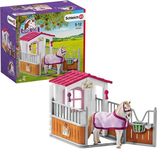 Schleich® Spielfigur »Schleich 42368 Pferdebox mit Lusitano Stute«