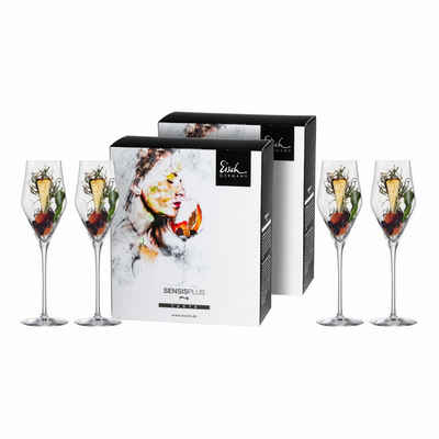 Eisch Champagnerglas »4er Set Sky Sensis plus 260 ml«, Kristallglas