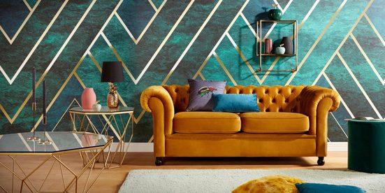 Guido Maria Kretschmer Home&Living Beistelltisch »Caen«  mit Glasplatte und Metall  Breite 60 cm