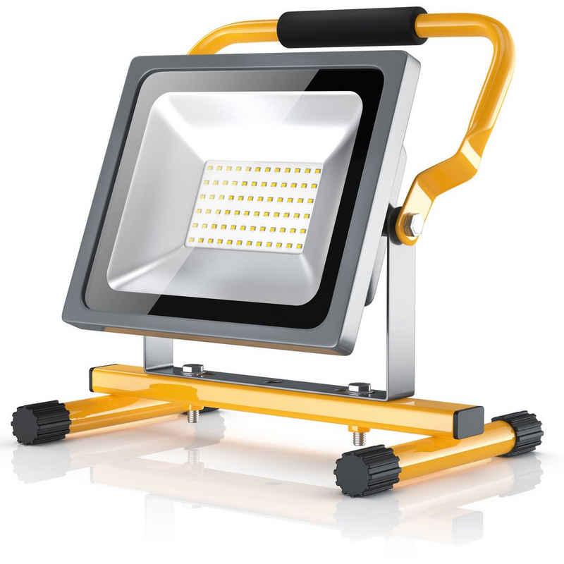Brandson Baustrahler, LED Baustrahler für Innen- und Außenbereich 30W / 2500 Lumen / IP65 (wasserfest)