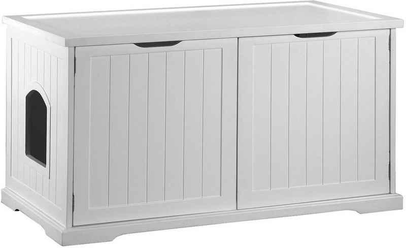 dobar Tierbett »Katzenhaus Mohrle XL«, BxLxH: 54x95x58 cm, weiß