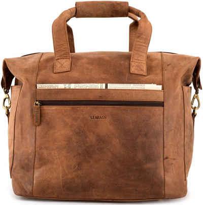 LEABAGS Reisetasche »Santa Cruz«, Reisetasche aus echtem Büffel-Leder im Vintage Look