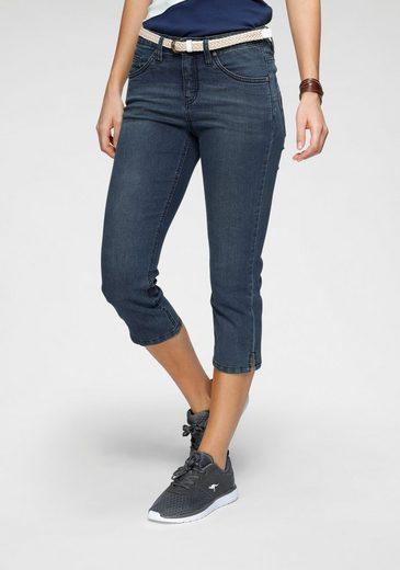KangaROOS 3/4-Jeans mit kleinen, seitlichen Schlitzen