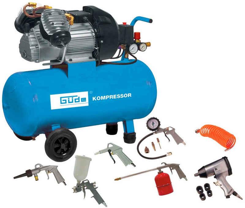 Güde Kompressor »Set 400/10/50 DG«, 2200 W, max. 103 bar, 50 l