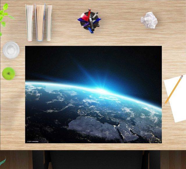 Kindertische - cover your desk.de Schreibtischaufsatz »Schreibtischunterlage für Kinder – Erdkugel bei Nacht – 60 x 40 cm – aus hochwertigem Vinyl«, (1 St)  - Onlineshop OTTO