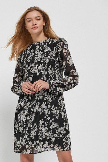 Next Etuikleid »Plissiertes Kleid mit Rüschenausschnitt«