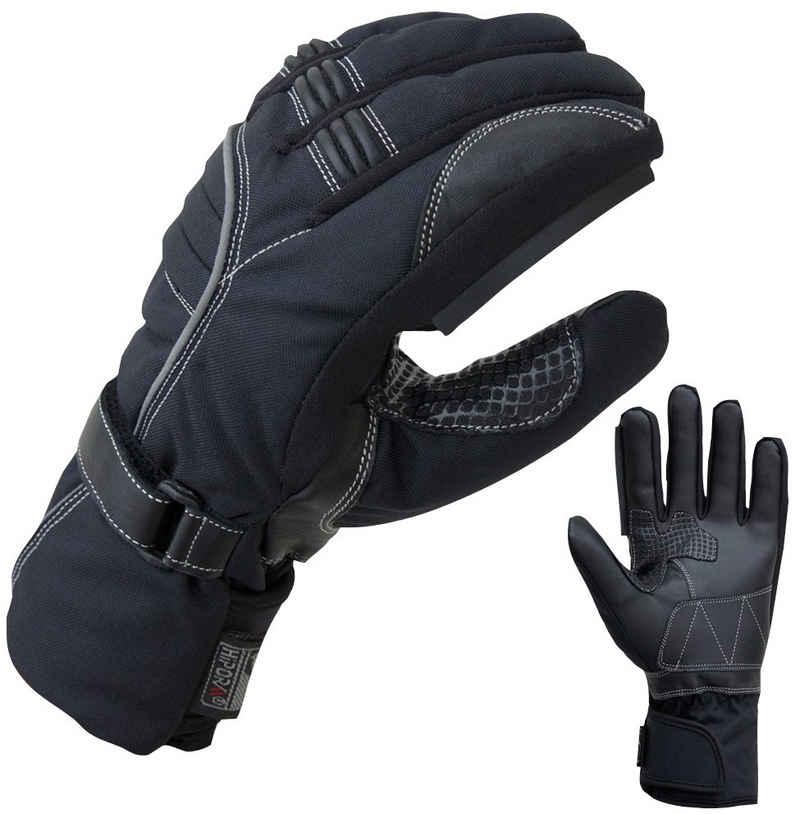 PROANTI Motorradhandschuhe Winter Regenhandschuhe mit Visierwischer, wasserdicht