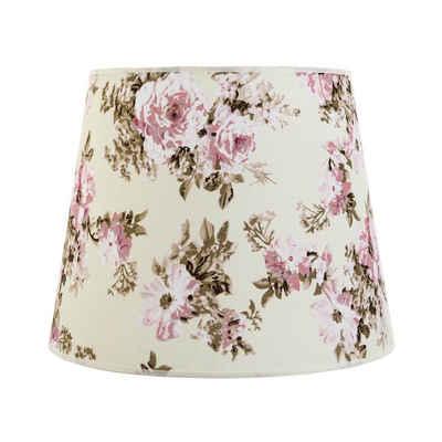 Licht-Erlebnisse Lampenschirm »WILLOW«, Lampenschirm Pendelleuchte Blumen Muster romantisch E27 Lampe