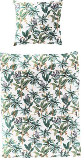 Bettwäsche »Tropical Leaves«, BIERBAUM, mit Blättern