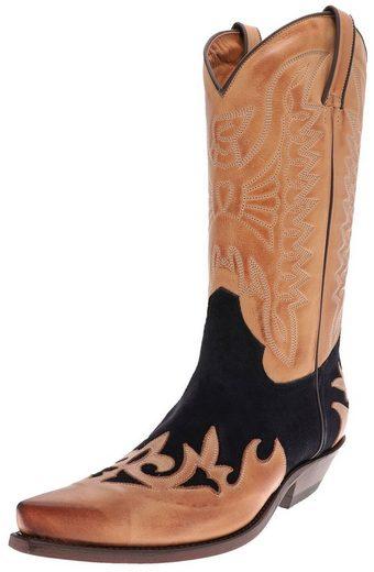 FB Fashion Boots »CARLOS Cuero Azul Westernstiefel Braun Blau« Cowboystiefel