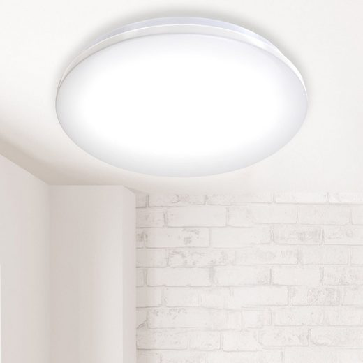 B.K.Licht LED Deckenleuchte, LED Deckenlampe Badlampe inkl. 18W 1600lm LED Platine Ø382mm IP44 Badezimmer Flur