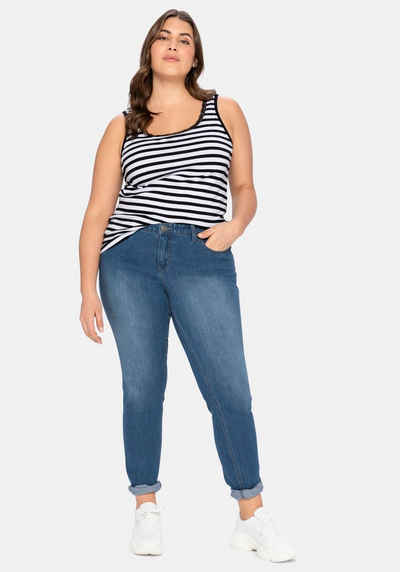 Sheego Stretch-Jeans in schmaler Form