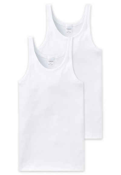 Schiesser Unterhemd »Herren Unterhemd 2er Pack ärmellos, Cotton«