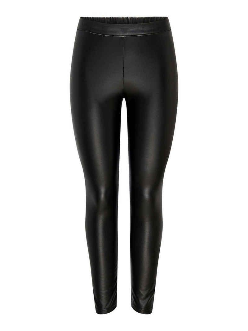 JACQUELINE de YONG Lederimitathose »3760« JDY Damen PU Leggings Stretch Biker Leder Optik Hose Coated Pants JDYSTINE